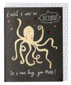 octopus valentines day card from paperchase
