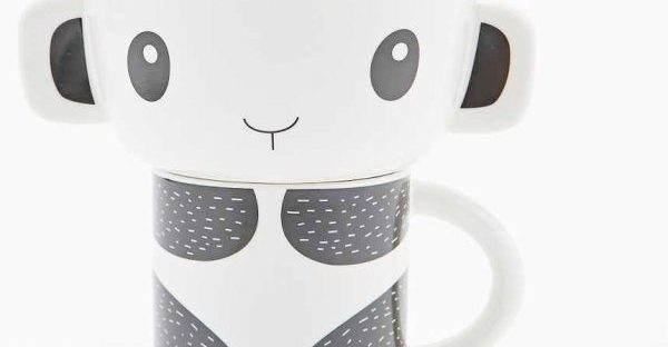 panda bowl and mug set from urban outfitters