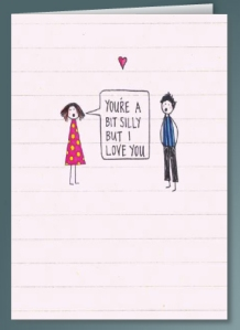 silly valentines day card from scribbler