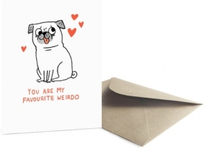weirdo valentines day card from ohh deer