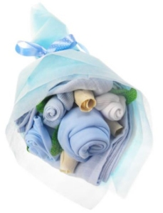 baby boy nappy bouquet from tesco