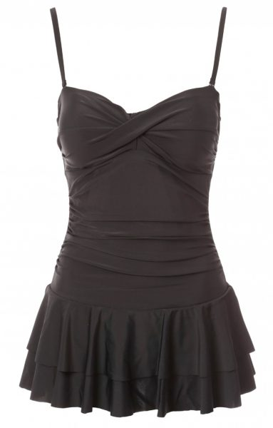 black control swim dress from peacocks