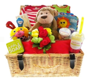 bright baby hamper from tesco