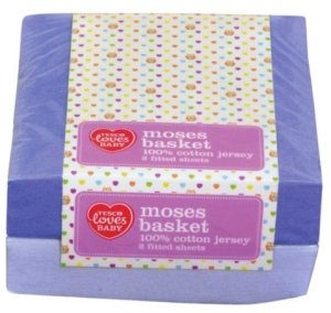 fitted sheets for moses basket from tesco