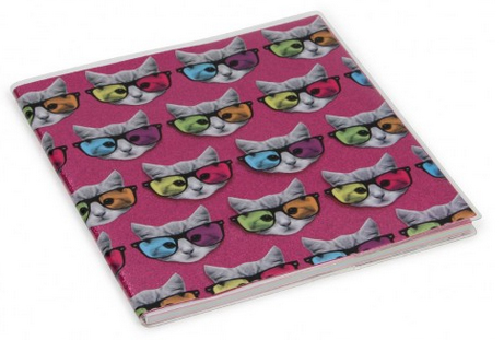 geek kitty glitter scrapbook from paperchase