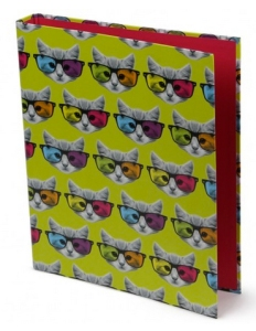 geek kitty ring binder from paperchase