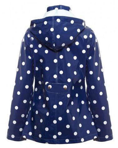 polka dot rain mac from yumi