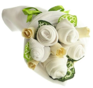 white clothes bouquet from tesco