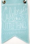 celebrate the little things wall art from etsy