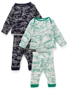 dinosaur pjs from marks and spencer
