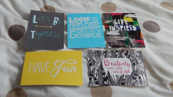 inspirational postcards from paperchase