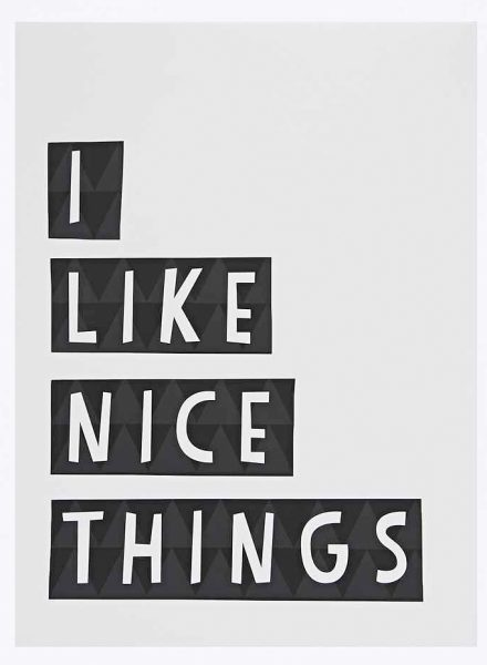 i like nice things wall art from urban outfitters