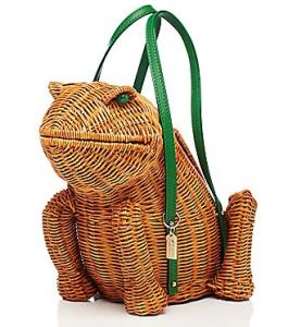 kate spade spring forward wicker frog bag