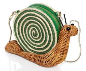 kate spade spring foward wicker snail bag