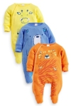 bright animal sleepsuits from next