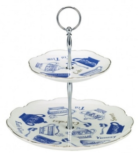 indigo dreams cake stand from paperchase