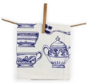 indigo dreams tea towels from paperchase