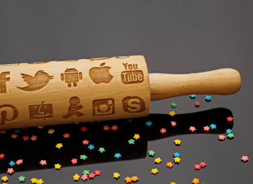 social media rolling pin from etsy