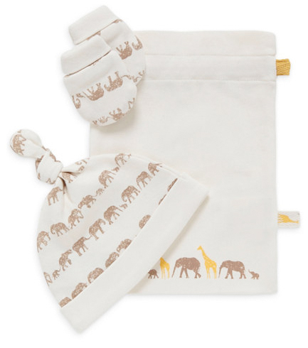 tusk hat and mitt set from mothercare