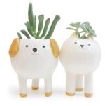 minky moo ceramics cat and dog planters from etsy