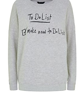 to do list sweater from new look