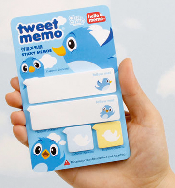 twitter sticky memos from fallindesign