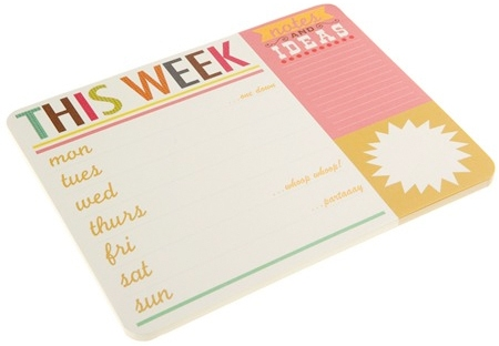 weekly planner from caroline gardner