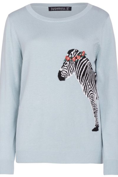 zebra sweater from sugarhill boutique