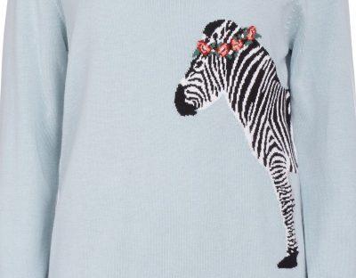 zebra sweater from sugarhill boutique