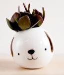 ceramic dog planter from etsy
