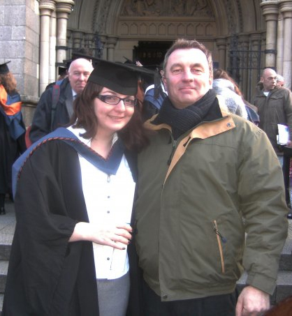 me and dad at graduation