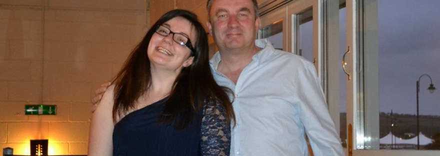 me and dad on his 50th birthday