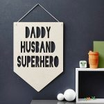 personalised fathers day wooden flag from not on the high street