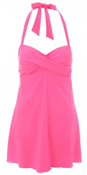 pink swimdress from peacocks