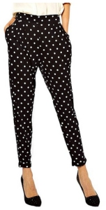 polka dot trousers from jollychic on amazon