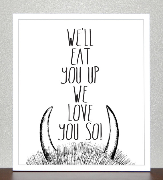 where the wild things are print from etsy