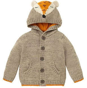 fox cardigan from mothercare