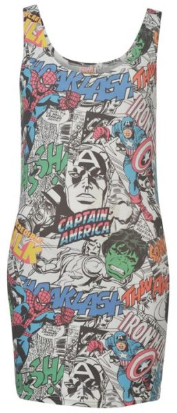 marvel bodycon dress from sports direct
