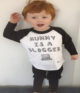 mummy is a blogger tshirt from gorgeous little george
