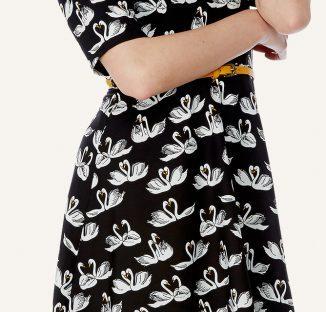 swan skater dress from yumi
