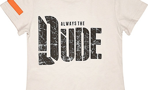 dude tshirt from river island