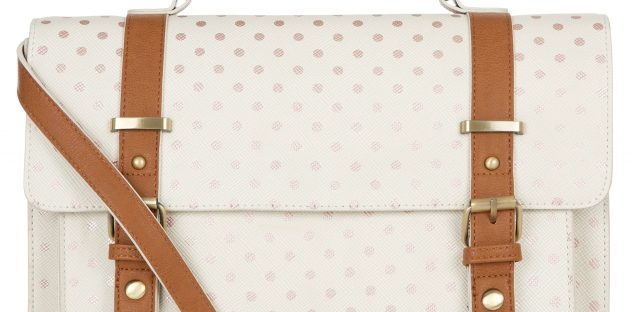 gold spot print kensington satchel from accessorize
