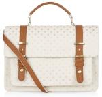 gold spot print kensington satchel from accessorize
