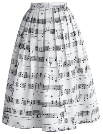 musical notes skirt from chic wish
