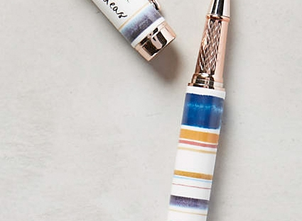 rain smudged pen from anthropologie