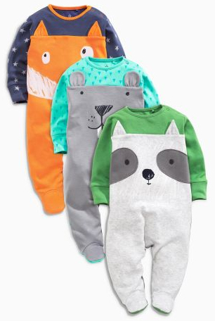woodland creatures sleepsuits from next