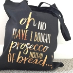 black and copper tote bag from not on the high street