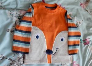 fox face long-sleeved t-shirt