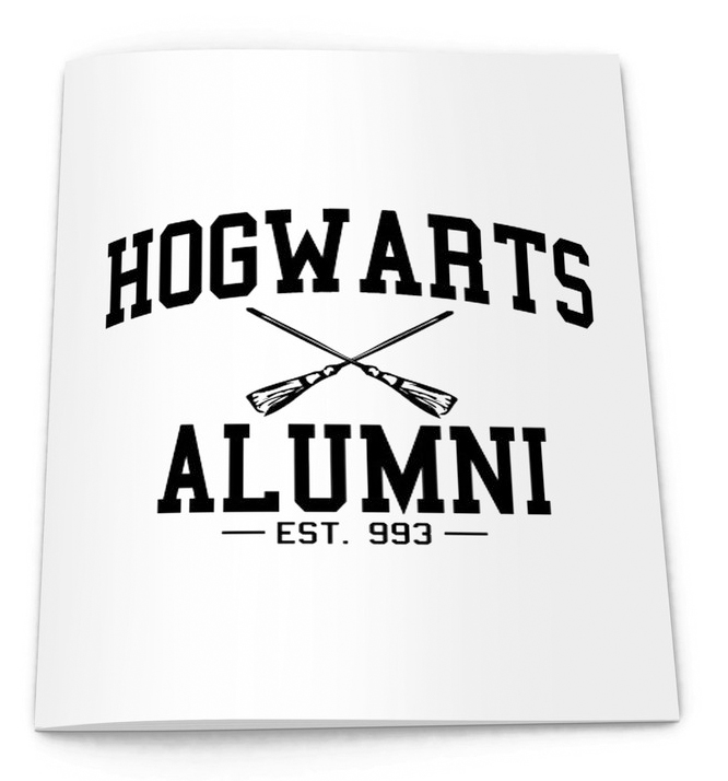 hogwarts alumni notebook from la la land