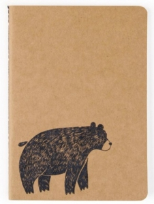 nordic nights bear kraft notebook from paperchase